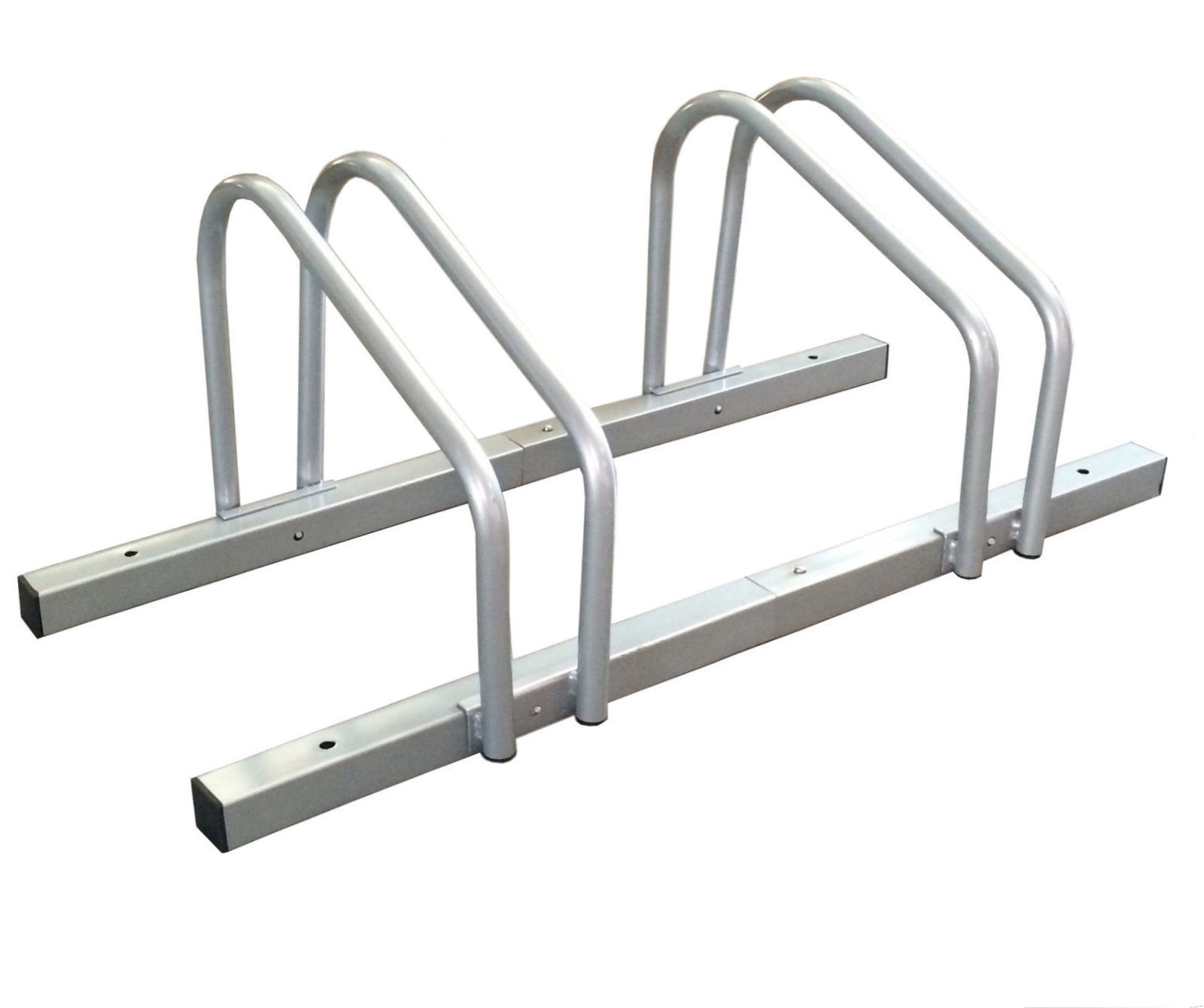 1 2 Bike Floor Parking Rack Storage Stand Bicycle Silver