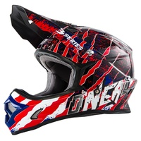 ONEAL 2017 3 SERIES MERCURY HELMET MATT BLUE/RED/WHITE ADULT