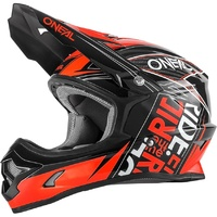 Oneal 2017 3 Series Fuel Black/Red Helmet Motocross YOUTH/KIDS