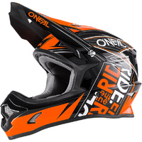 Oneal 2017 3 Series Fuel Black/Orange Helmet Motocross YOUTH/KIDS