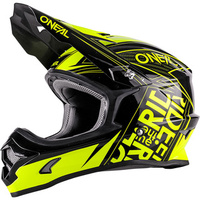 ONEAL 2017 3 SERIES FUEL HELMET BLACK/HI-VIZ ADULT