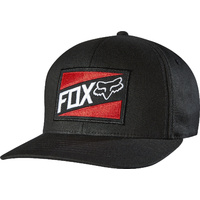 Fox Racing Mens Black/Red Manifest Flexfit Hat
