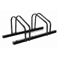1 - 2 Bike FLOOR PARKING RACK STORAGE STAND Bicycle Black