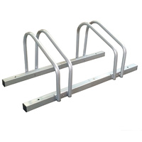 1 - 2 Bike FLOOR PARKING RACK STORAGE STAND Bicycle Silver