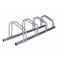 1 - 4 Bike Floor Parking Rack Storage Stand Bicycle Silver