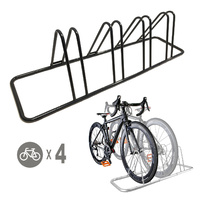 1 - 4 Bike Floor Parking Rack Storage Stand Bicycle  T