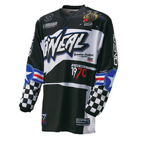 Oneal Mx 2017 Element After Burner Jersey Black/Blue Adult Motocross Dirt Bike