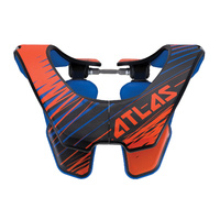 Atlas Air Mx Gear Orange Tornado Adult Motocross Dirt Bike Bmx Neck Brace