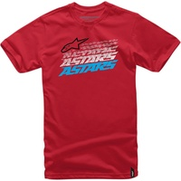ALPINESTARS HASHED Short Sleeve Tee T-Shirt Red