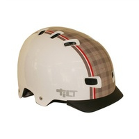 Pedal Nation Helmet Pn Tilt Urbane Gloss White/Brown Checker Unisize