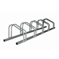 1 - 5 Bike FLOOR PARKING RACK STORAGE STAND Bicycle Silver