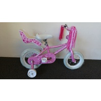 "Avanti Diana 12"" Girls Bike With Training Wheels, Doll Carrier, Streamers -Brand New-"