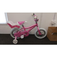"Avanti Diana 12"" Girls Bike With Training Wheels, Doll Carrier -Brand New-"