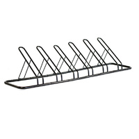 1 - 6 Bike Floor Parking Rack Storage Stand Bicycle