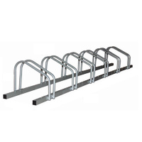 1 - 6 Bike FLOOR PARKING RACK STORAGE STAND Bicycle Silver