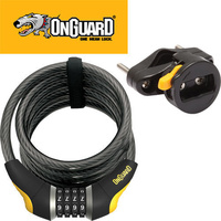 OnGuard Doberman Coil Combo Bicycle Lock 185cm x 15mm