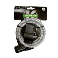 Kryptonite Keeper 1212 Coiled Key Cable 12Mm X 120Cm W/Bkt