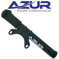 AZUR MINI CYCLING PUMP FLEXI HOSE BLACK