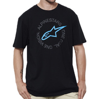 Alpinestars One Goal Tee Black/Cyan Adult