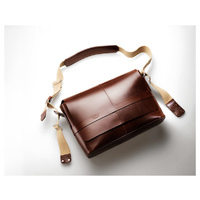 BROOKS BARBICAN BROWN LEATHER SHOULDER BAG