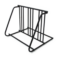 Bike Rack Valet Up To 6 Bikes Bicycles Parking Stand Double Side Black
