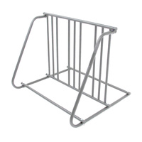 Bike Rack Valet Up To 6 Bikes Bicycles Parking Stand Double Side Silver