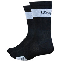 "Defeet Cyclismo 5"" Cuff Socks -Medium - Black"