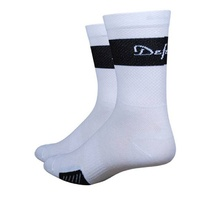 "Defeet Cyclismo 5"" Cuff Socks -Medium- White"