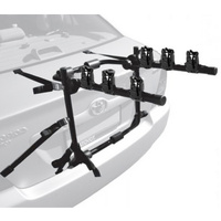 3-Bike Rear Boot Mounted Car Bike Carrier Rack With Straps