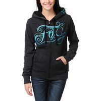 Fox Racing womens Drift sherpa zip hoody charcoal heather