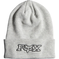Fox Racing Mighty Womens Headwear Beanie Hat - Light Heather Grey One Size