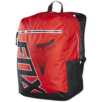 Fox Racing Conner Diamond Motocross Kids School Bag Black Red Backpack