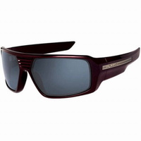 Fox Racing The Study Cinder Red-Black Iridium Unisex Sunglasses