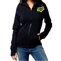 Fox Disperse Zip Womens Hoodie Black
