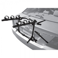 Jetblack 3-Bike Rear Boot Mounted Car Rack Carrier With Rubber Straps