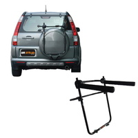 Jetblack 3-Bike Tyre Rack, Mounts To Suv Rear Tyre To Carry Up To 3 Bikes