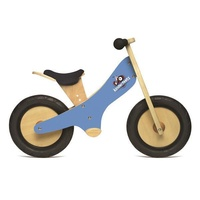 Kinderfeets Wooden Chalkboard Balance Kids Bike - Blue