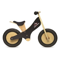 Kinderfeets Wooden Chalkboard Balance Kids Bike - Black