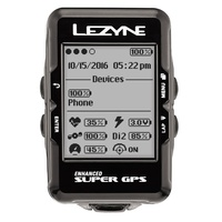 Lezyne Super Gps Y10 Black