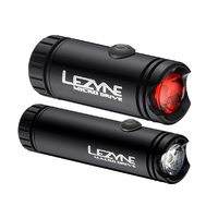 LEZYNE LED MACRO FRONT AND MICRO REAR PAIR LIGHT USB CHARGE BLACK