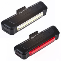 Moon Comet 100 + Comet 35  USB Rechargeable Front&Rear Bike Bicycle Light Pack