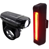 Moon Meteor 100 Lumens / Comet Bicycle Light Set - Front And Rear Bike Lights