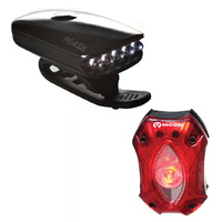 Moon Mask + Shield Front & Rear Combo Usb Rechargeable Bike Bicycle Light Pack