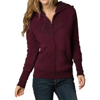 Fox Racing Interface Sherpa Womens Zip Hoody Bordeaux