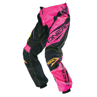 Oneal MX Element Racewear Motocross Adult Pants Womens Pink/Yellow 2016