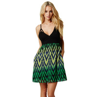 Fox Racing Sheer Desire Womens Dress Day Glo Green/Black