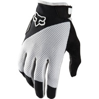 Fox Reflex Gel MTB Full Finger Gloves White