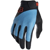 Fox Reflex Gel MTB Full Finger Gloves Blue
