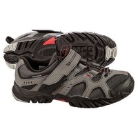 SHIMANO SH-MT43 SPD MTB BICYCLE SHOES GREY/RED