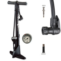 High Pressure Bicycle Bike Floor Air Pump Gauge By Velobici